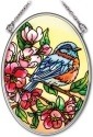 Amia 41963i Birds & Blossoms Small Oval Suncatcher