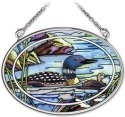 Amia 41966 Tranquil Water Loons Small Oval Suncatcher