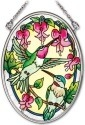 Amia 41975 Traditional Hummingbirds Small Oval Suncatcher
