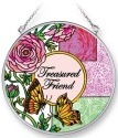 Amia 42067 Treasured Friend Medium Circle Suncatcher