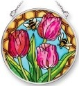 Amia 42074 Tulips & Bees Small Circle Suncatcher