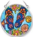 Amia 42080 Flip Flops Small Circle Suncatcher