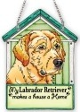 Amia 42102 Gold Labrador Retriever Doghouse Suncatcher
