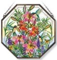Amia 42120 Daylilies and Associates Beveled Medium Octagon Panel