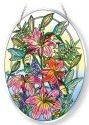 Amia 42121 Daylilies and Associates Beveled Large Oval Suncatcher