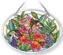 Amia 42122 Daylilies and Associates Medium Oval Suncatcher