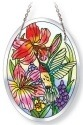 Amia 42123 Daylilies & Associates Beveled Small Oval Suncatcher