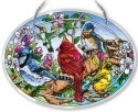 Amia 42133 Birds and Blossoms Large Oval Suncatcher
