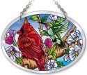 Amia 42135 Birds & Blossoms Small Oval Suncatcher