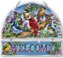 Amia 42139 Birds & Blossoms Beveled Welcome Panel