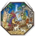 Amia 42157 Oh Holy Night Beveled Medium Octagon Panel