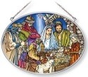 Amia 42160 Oh Holy Night Medium Oval Suncatcher