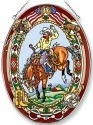 Amia 42212 Real Rodeo Ride Large Oval Suncatcher
