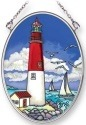 Amia 42245 Island Lighthouse 3 Small Oval Suncatcher