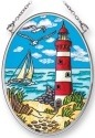 Amia 42246 Island Lighthouse 4 Small Oval Suncatcher
