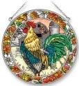 Amia 42261 Emerald Rooster Large Circle Suncatcher