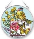 Amia 42287 Botanical Bird Medium Circle Suncatcher