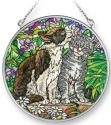 Amia 42292 Garden Secret Cat Medium Circle Suncatcher