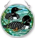 Amia 42300 Loons Small Circle Suncatcher