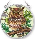 Amia 42304 Great Horned Owl Small Circle Suncatcher