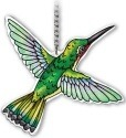 Amia 42340 Ruby Throated Hummingbird Small Suncatcher