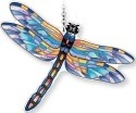 Amia 42346 Eastern Pondhawk Medium Water Cut Suncatcher