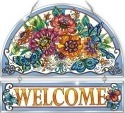 Amia 42361 Frilly Floral Beveled Welcome Panel