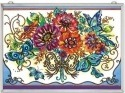 Amia 42362 Frilly Floral Glass Panel