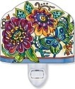 Amia 42365 Frilly Floral Screen Shaped Night Light