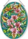 Amia 42377 Hummingbirds Orchard Large Oval Suncatcher