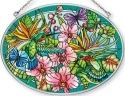 Amia 42378 Hummingbirds Orchard Medium Oval Suncatcher