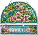 Amia 42383 Hummingbirds Orchard Beveled Welcome Panel