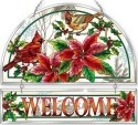 Amia 42410 Crimson Christmas Beveled Welcome Panel