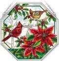 Amia 42411 Crimson Christmas Beveled Medium Octagon Panel