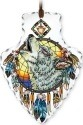 Amia 42415 Wolf Head Large Arrowhead Suncatcher