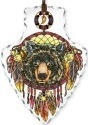 Amia 42416 Black Bear Large Arrowhead Suncatcher