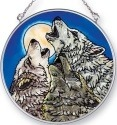 Amia 42431 Wolf Trinity Medium Circle Suncatcher