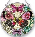 Amia 42436 Flower Spotted Btrfly Dream Medium Circle Suncatcher