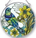 Amia 42437 Aviary Green Bird Medium Circle Suncatcher