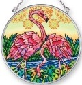 Amia 42440 Flamingo Lagoon Square Medium Circle Suncatcher