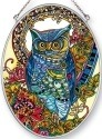 Amia 42452 Hoot Medium Oval Suncatcher