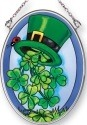 Amia 42480 Shamrock Shower Small Oval Suncatcher