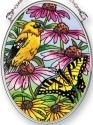 Amia 42493 Golden Finches Small Oval Suncatcher