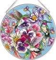 Amia 42517 Hummingbirds Alight Large Circle Suncatcher