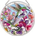 Amia 42518 Hummingbirds Alight Medium Circle Suncatcher