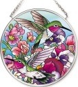 Amia 42519 Hummingbirds Alight Small Circle Suncatcher