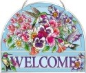 Amia 42524 Hummingbirds Alight Beveled Welcome Panel
