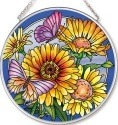 Amia 42533 Daisies & Butterflies Medium Circle Suncatcher
