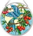 Amia 42538 Orchard Parrot Medium Circle Suncatcher