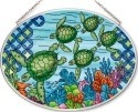 Amia 42560 Green Ocean Turtle Medium Oval Suncatcher